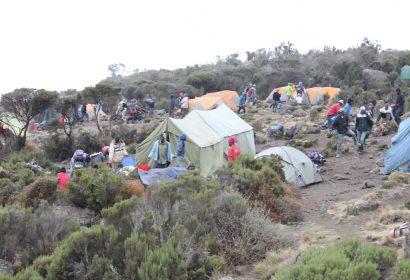 Camping at Mt